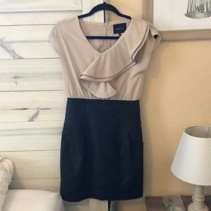 Anthropologie ruffle front career dress small